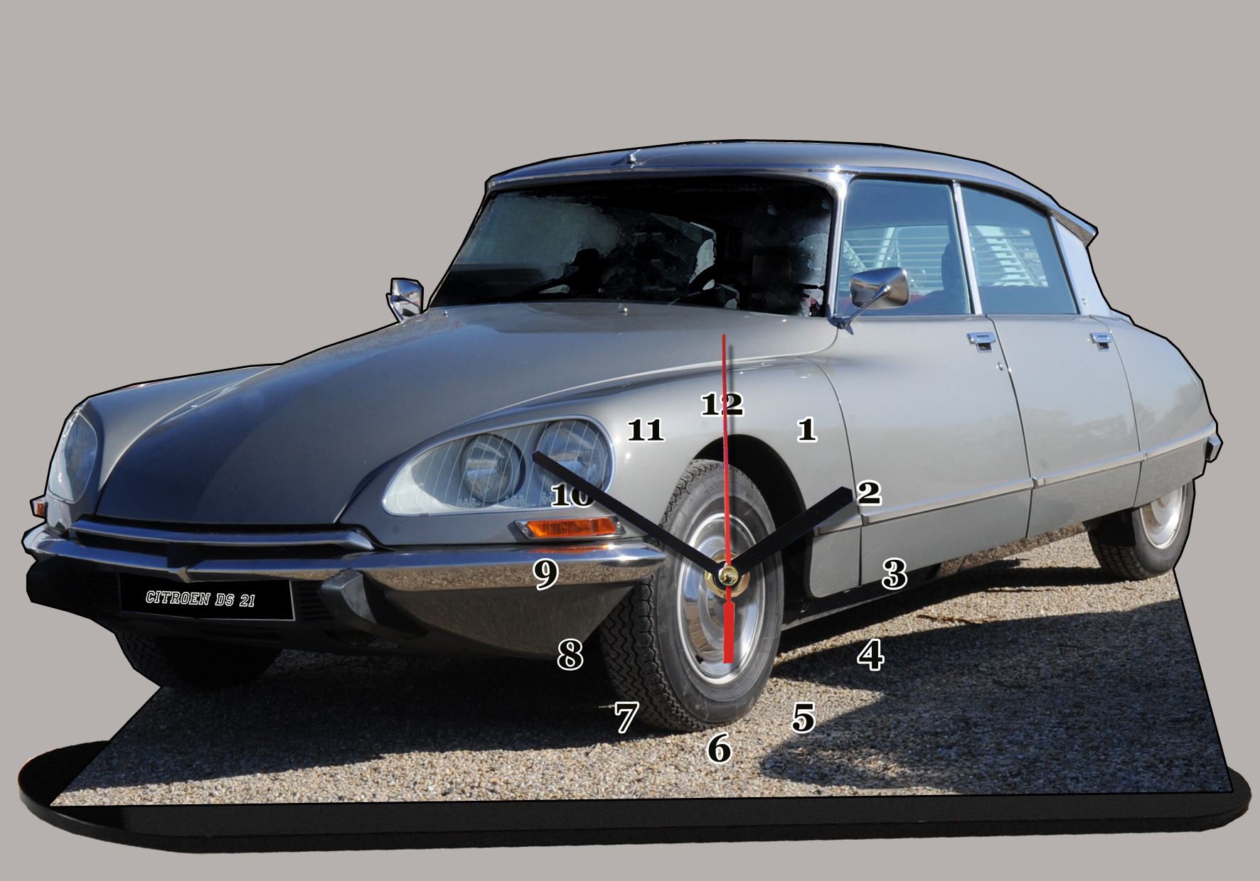 la celebre citroen ds 21 grise de f bertoni en miniature auto horloge. Black Bedroom Furniture Sets. Home Design Ideas
