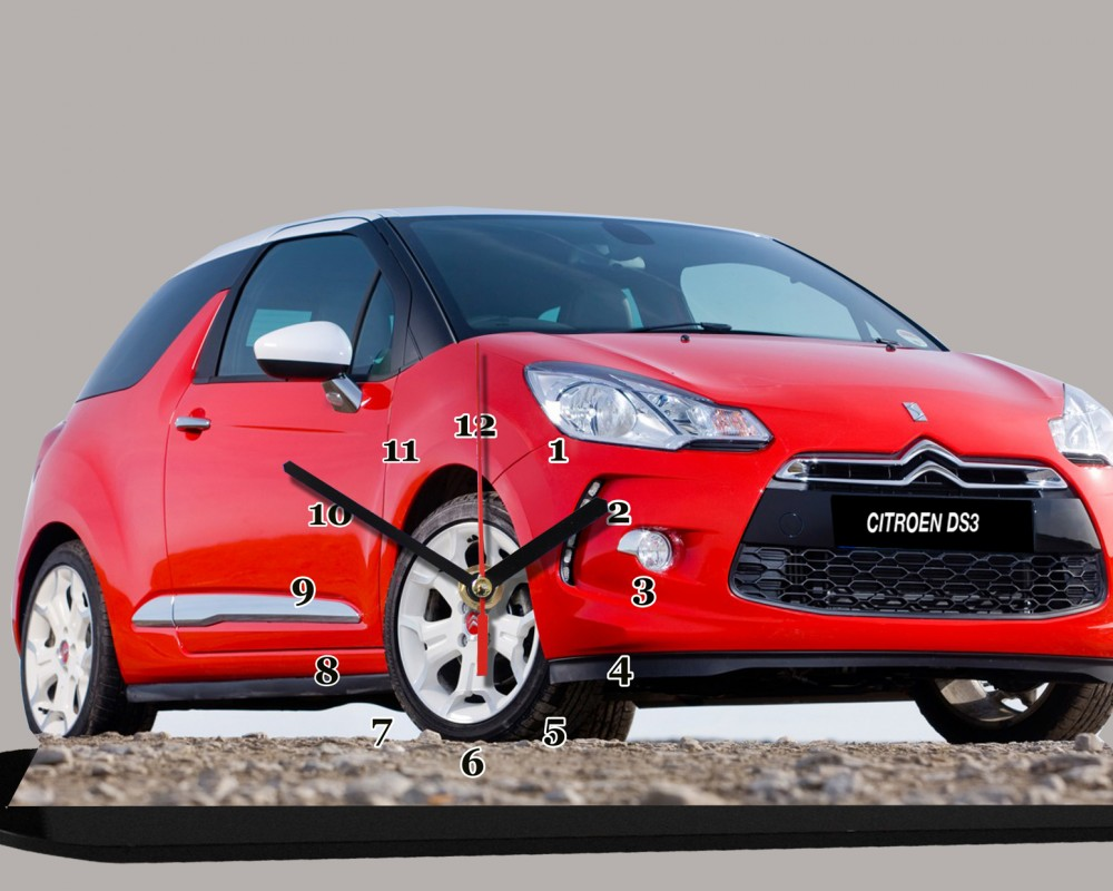 la citroen ds 3 2012 rouge en miniature auto horloge. Black Bedroom Furniture Sets. Home Design Ideas