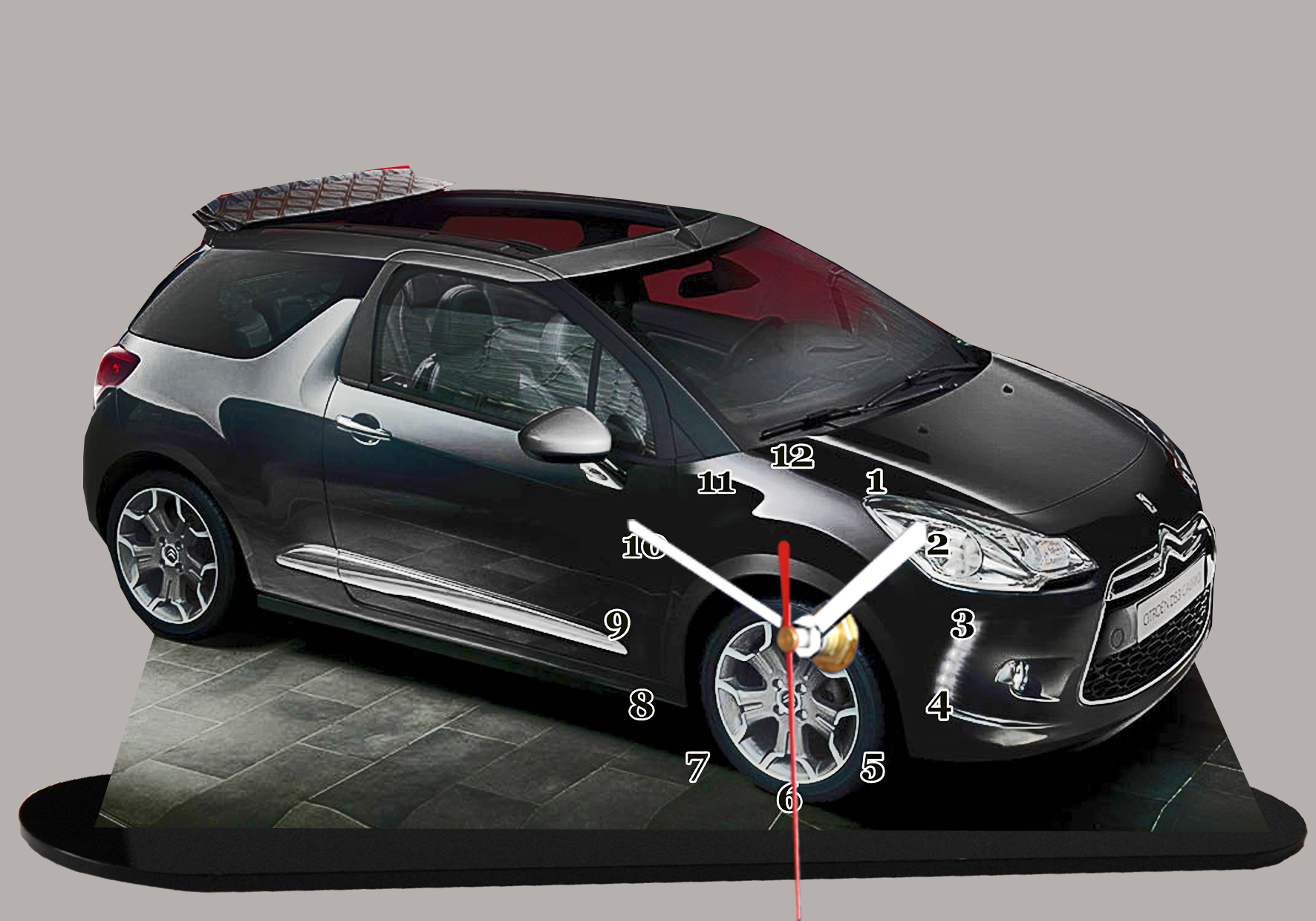 la citroen ds 3 noire en miniature auto horloge. Black Bedroom Furniture Sets. Home Design Ideas