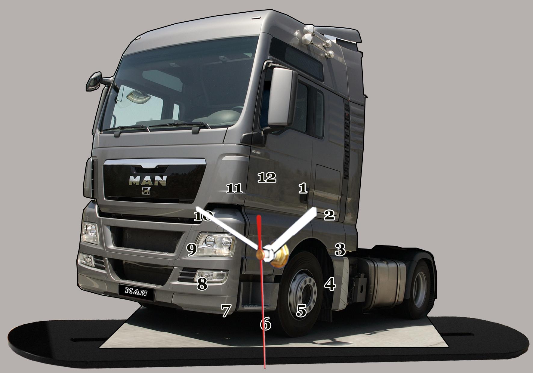 truck allemand man miniature camion truck horloge. Black Bedroom Furniture Sets. Home Design Ideas