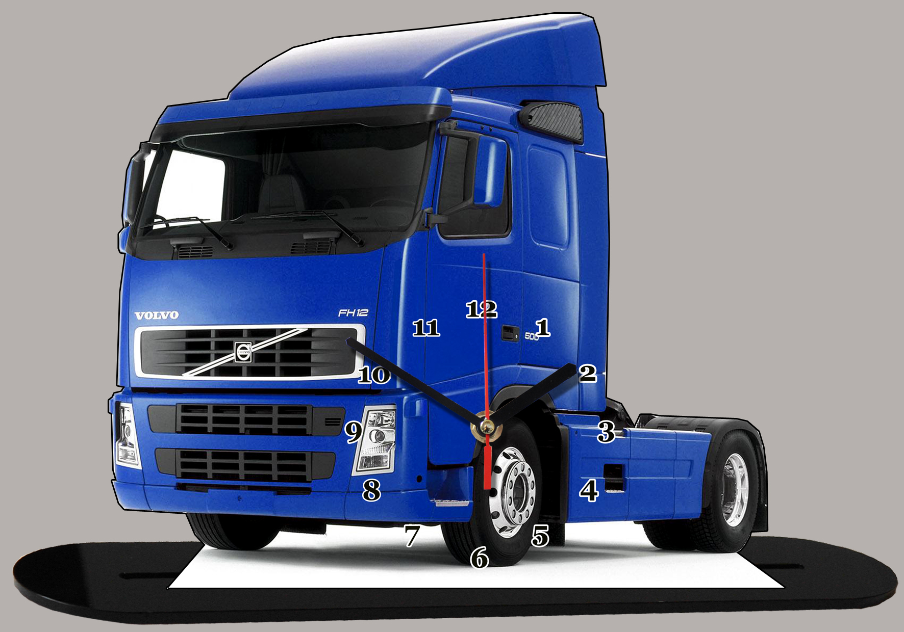 truck su dois volvo fh 12 miniature camion truck horloge. Black Bedroom Furniture Sets. Home Design Ideas
