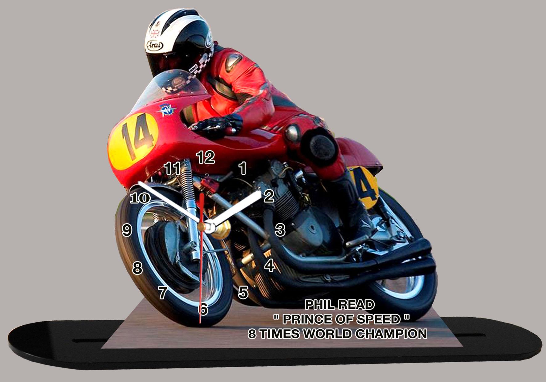 phil read pilote moto honda en miniature moto horloge. Black Bedroom Furniture Sets. Home Design Ideas