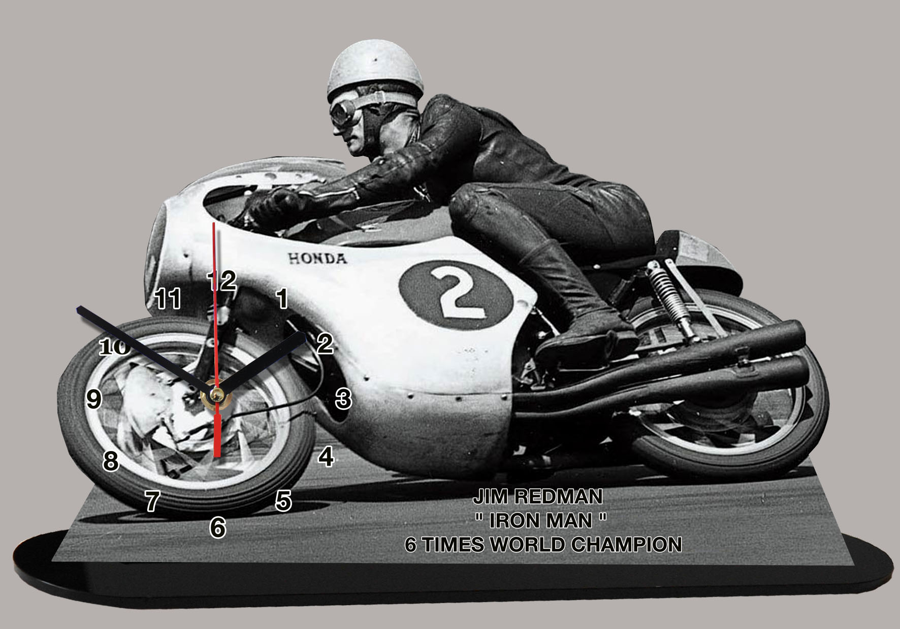 james arthur jim redman pilote moto en miniature moto horloge. Black Bedroom Furniture Sets. Home Design Ideas