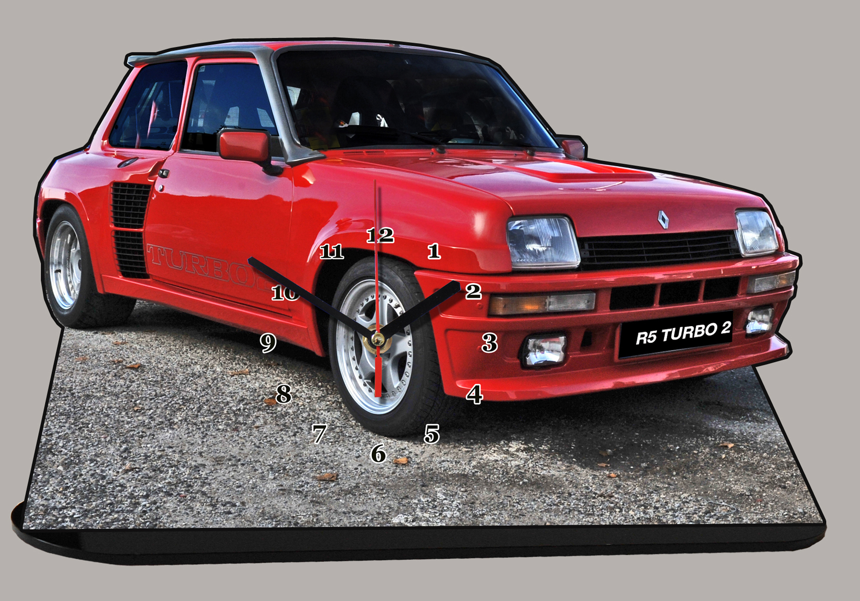renault 5 turbo 2 en miniature auto horloge. Black Bedroom Furniture Sets. Home Design Ideas