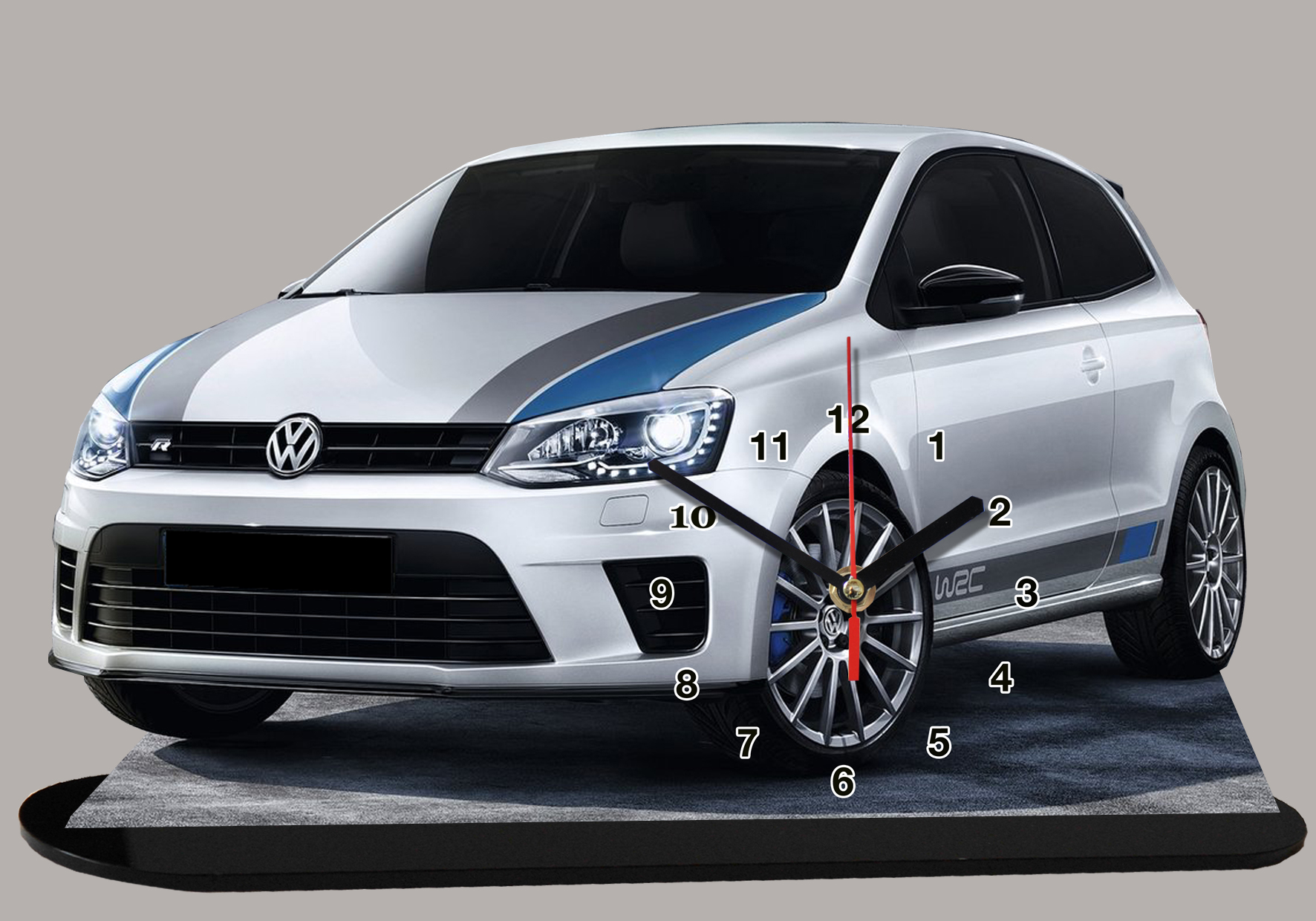 volkswagen polo r wrc en auto horloge miniature. Black Bedroom Furniture Sets. Home Design Ideas