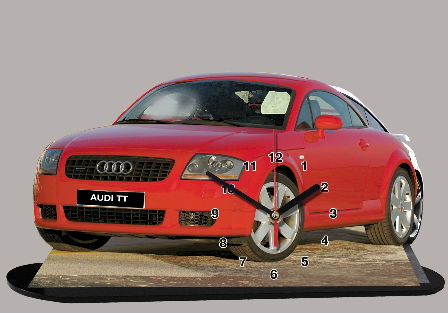 audi tt rouge 02 en auto horloge miniature. Black Bedroom Furniture Sets. Home Design Ideas