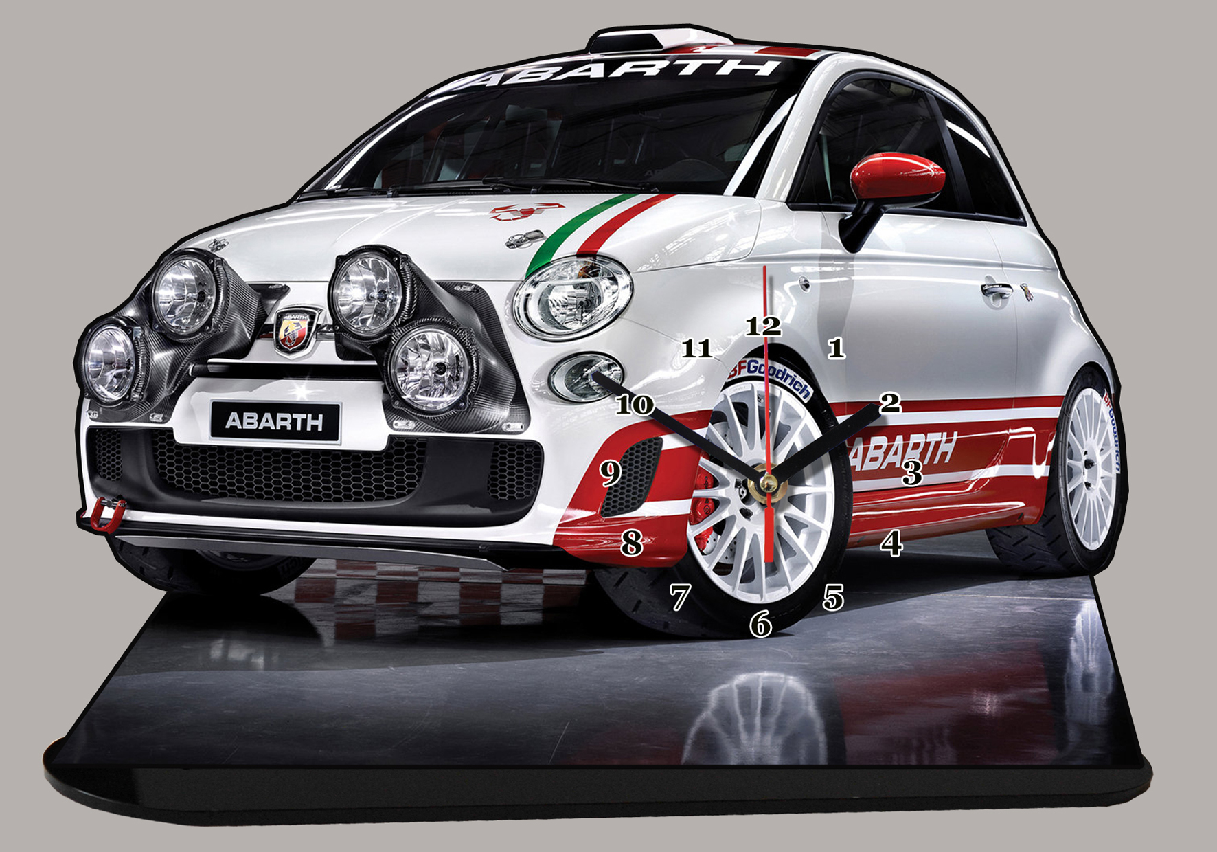fiat 500 abarth 07 en miniature auto horloge. Black Bedroom Furniture Sets. Home Design Ideas