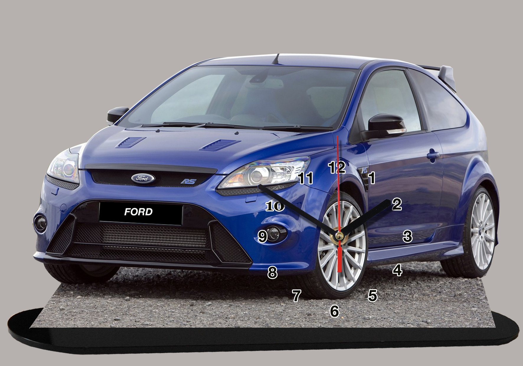 ford focus bleue rs 03 auto horloge miniature. Black Bedroom Furniture Sets. Home Design Ideas