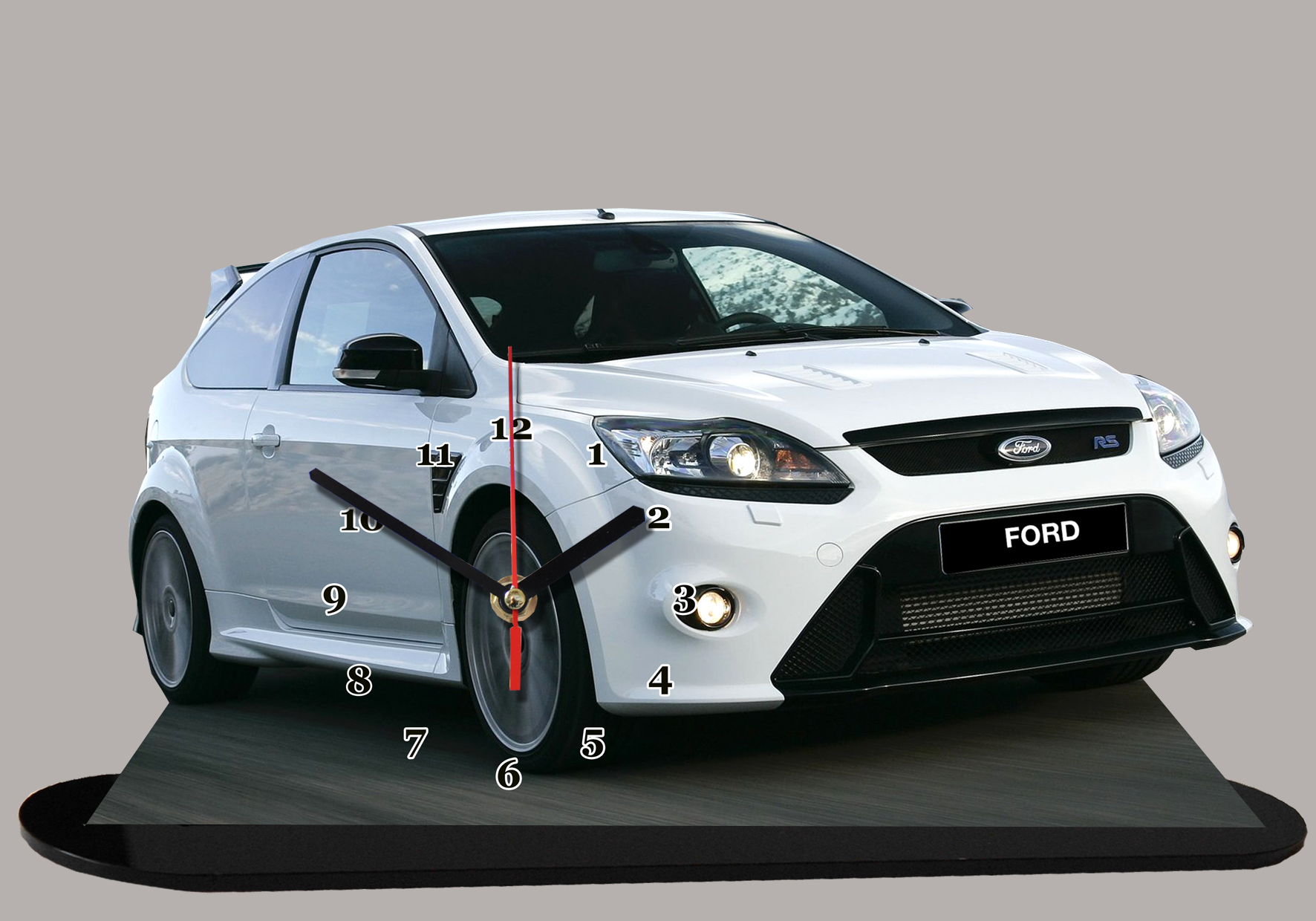 ford focus blanche rs 01 auto horloge miniature. Black Bedroom Furniture Sets. Home Design Ideas