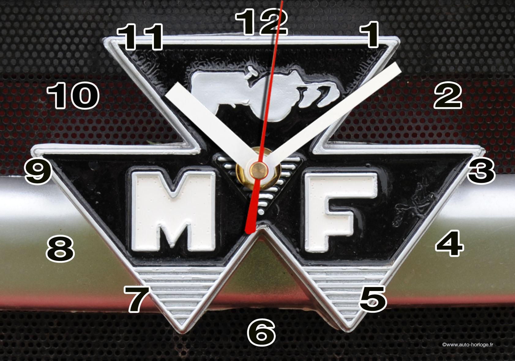 massey fergusson en logo horloge