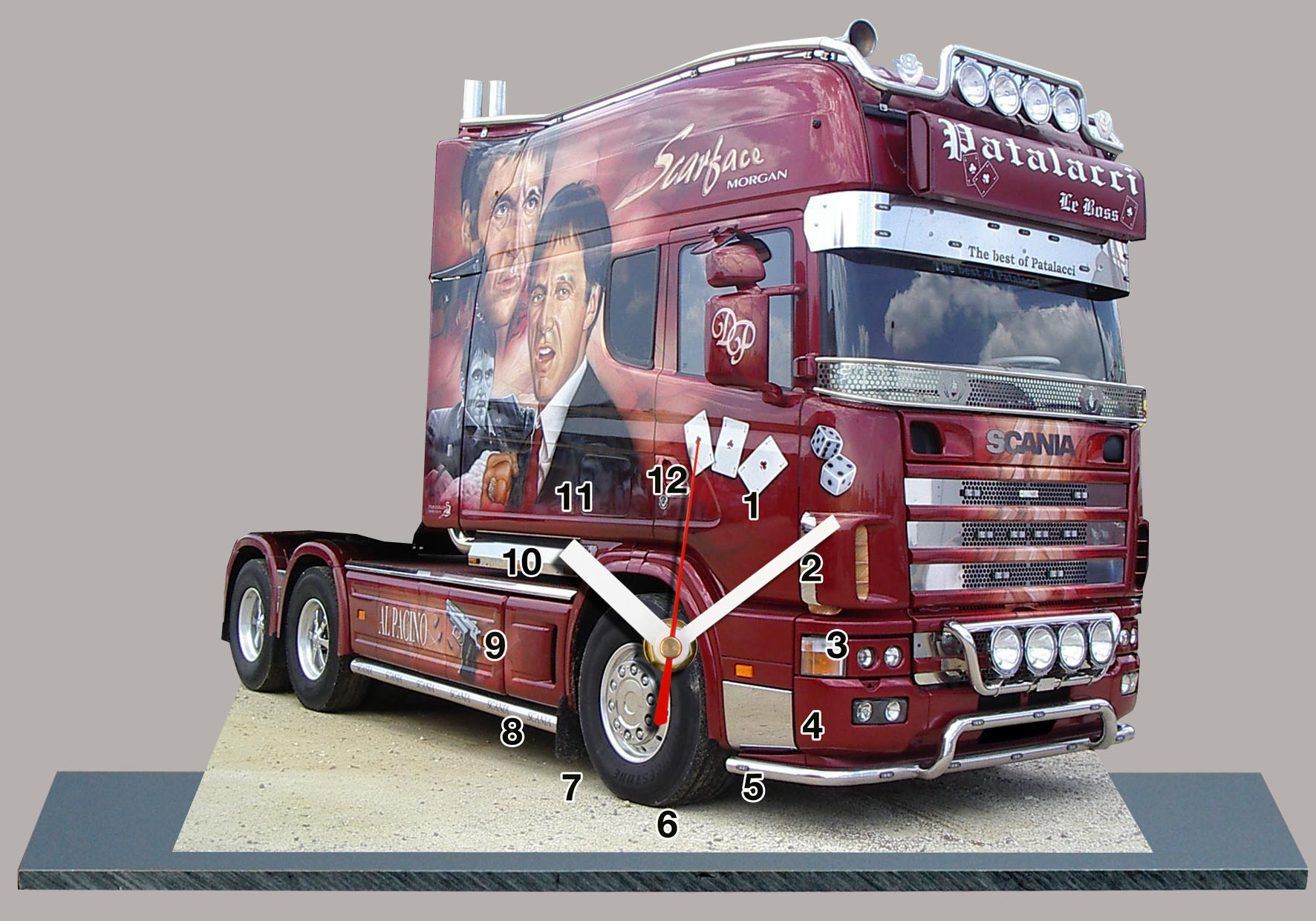 miniature auto horloge scania d couvrez nos s ries d 39 horloges scania. Black Bedroom Furniture Sets. Home Design Ideas