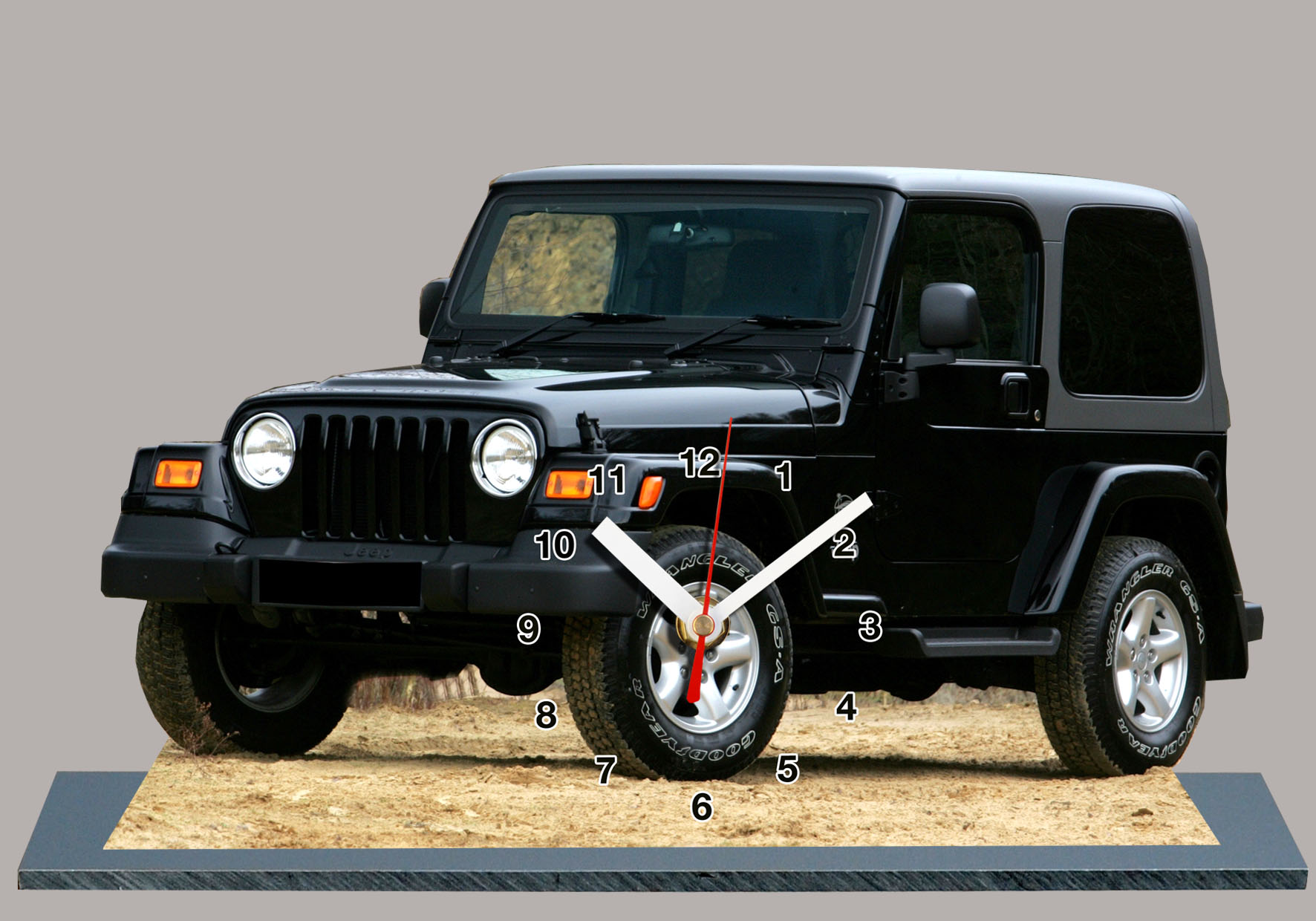jeep wrangler en horloge miniature. Black Bedroom Furniture Sets. Home Design Ideas