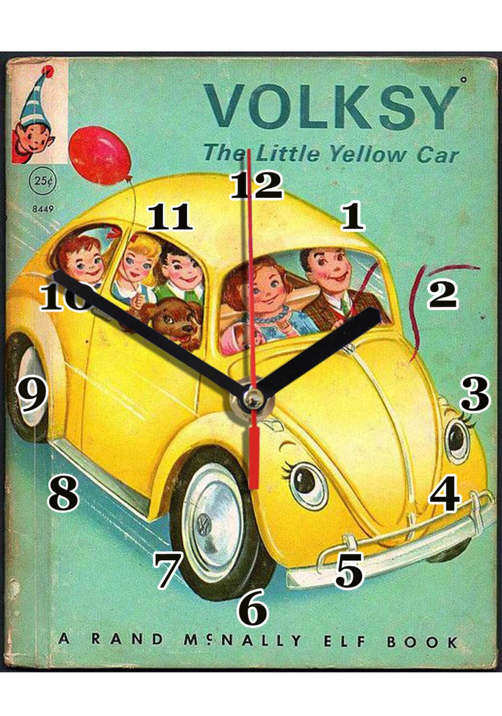 Volksy , the little yellow car en horloge