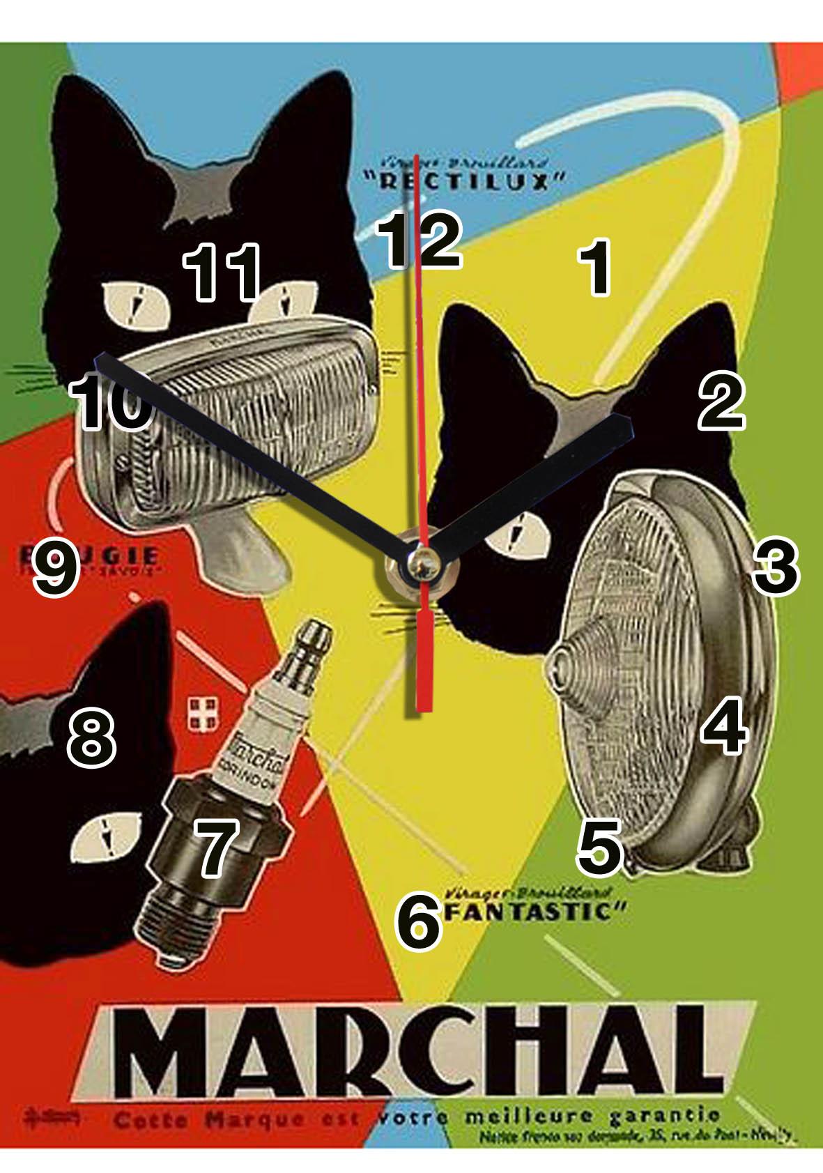 pub retro marshal en horloge
