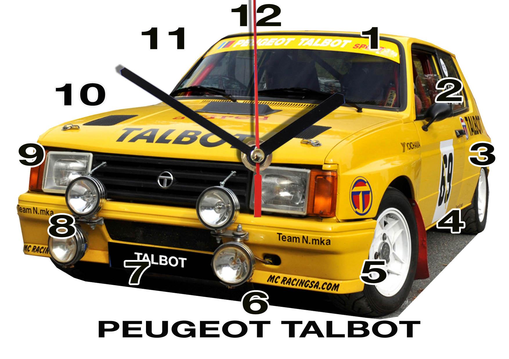 Talbot Peugeot en horloge murale