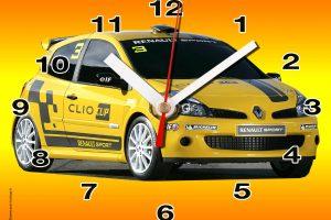 Renault Clio jaune idée miniature cadeau
