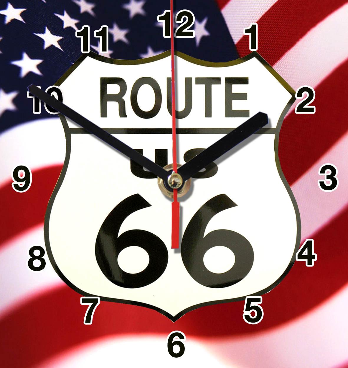 Route 66 en horloge murale