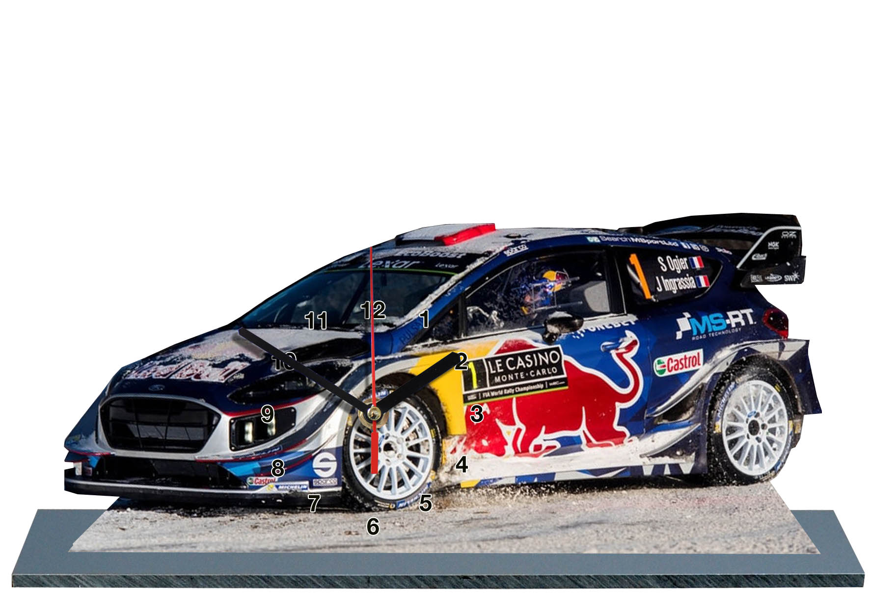 ogier sur ford fiesta wrc au rallye monte carlo 2017. Black Bedroom Furniture Sets. Home Design Ideas
