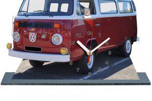 volkswagen Kombi rouge-bordeau