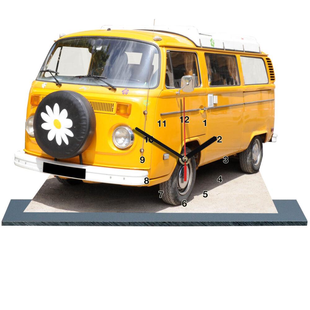 combi Volkswagen hippie jaune