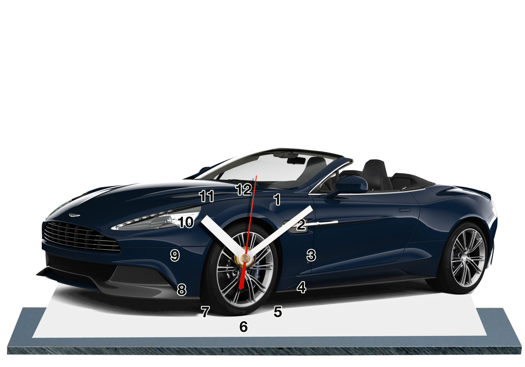 aston martin cabriolet en auto horloge style miniature. Black Bedroom Furniture Sets. Home Design Ideas