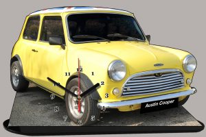 Austin mini jaune en miniature