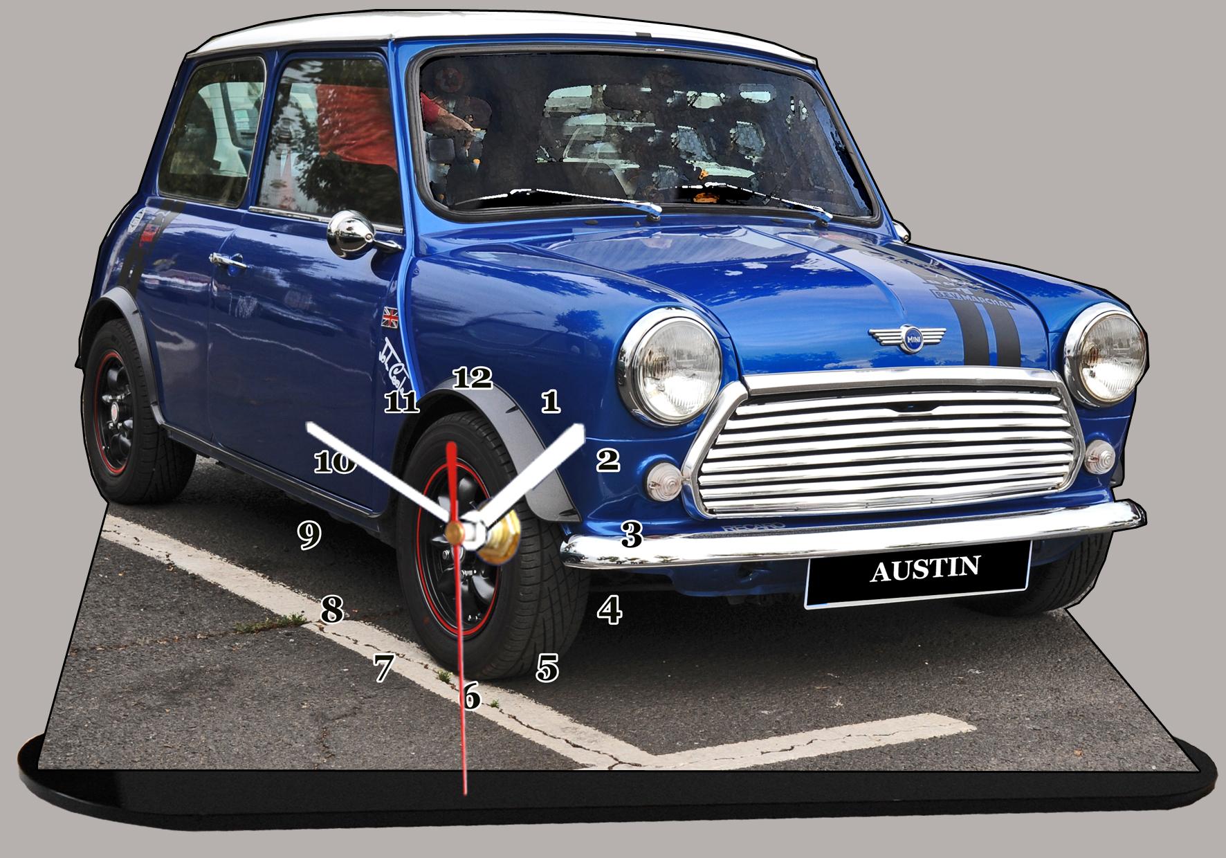 Austin mini bleu