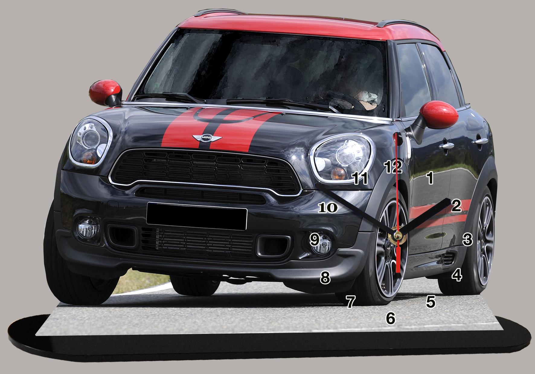 Mini, nouveau modele noire et rouge miniature