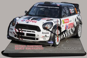 Mini Rally Michal Kosciuszko en miniature sur socle