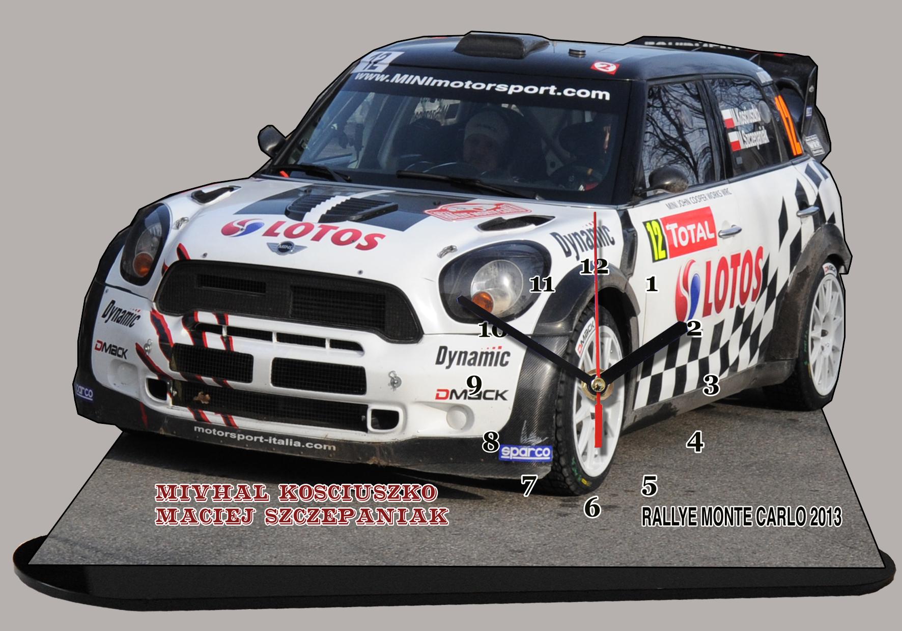 Mini Rally Michal Kosciuszko en miniature sur socle
