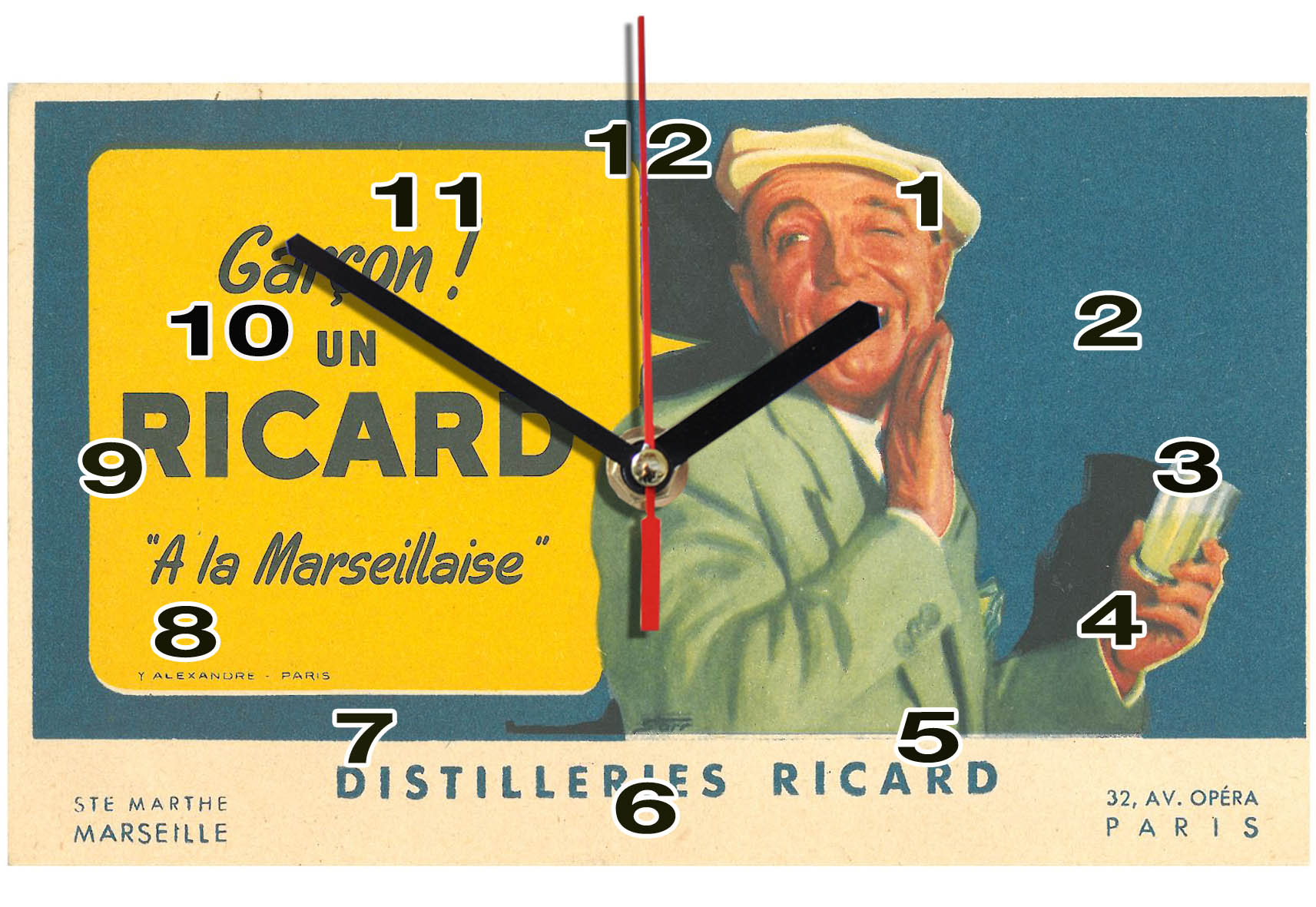 horloge vintage Ricard en idée cadeau