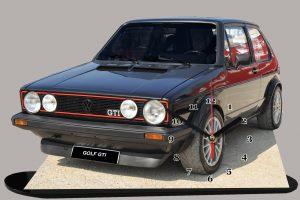 golf GTI noire 1980