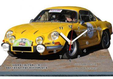 Trophées en horloge sur socle. Rallye Historique des Cévennes.